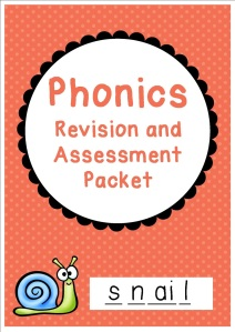 Phonics revision and assessment packet cover